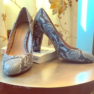 Snakeskin pumps - nearly new